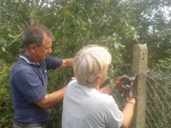 Gill and Peter fence mending